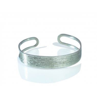 Bracelet - Bangle Wood - Large - Argent massif