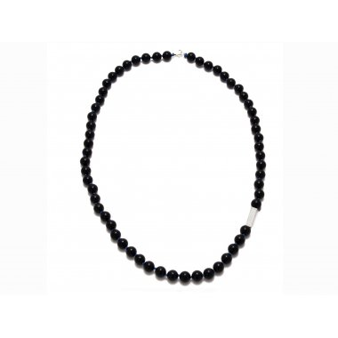 Collier long black Wood