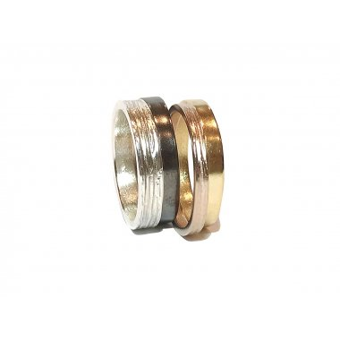Bague en argent MIX WOOD fabriqué à Paris par JéromedeStefanà Bijoux en argent Made in France